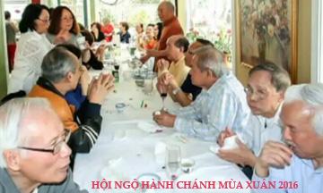 Hội Ngộ Hành Chánh mùa Xuân 2016 tại tư gia anh chị Trần Hồng