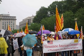 Cộng Đồng Việt Nam Vùng Hoa Thịnh Đốn biểu tình trước White House ngày 22/5/2016